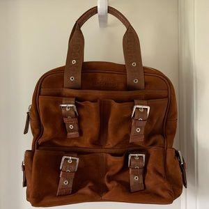 Longchamp Suede Brown Bag